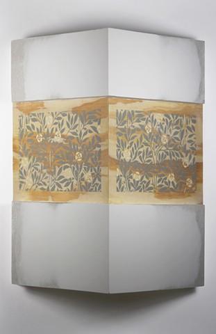 Constructed corner, wallpaper pattern