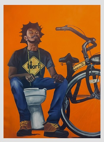 Portrait Painting representing notions of black masculinity and the black experience in America