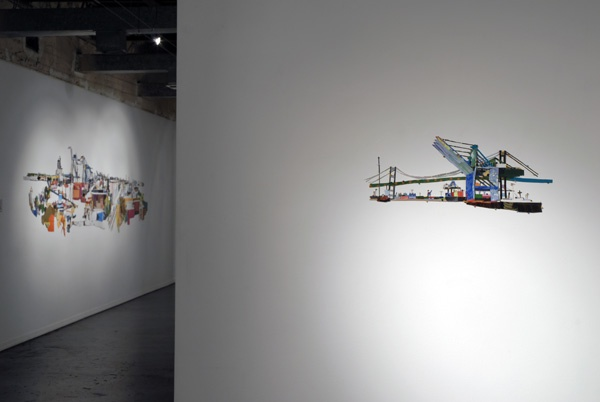 Through Vincent Thomas Bridge (installation view)