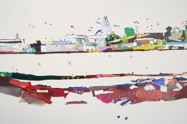 "Detail ""Decaying Shipyard from Marshland"""