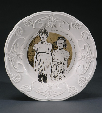 Porcelain commemorative plate
