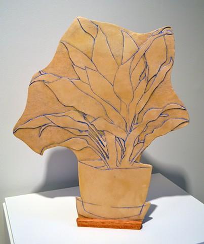 Souvenirs: Facade 2, stoneware, wax