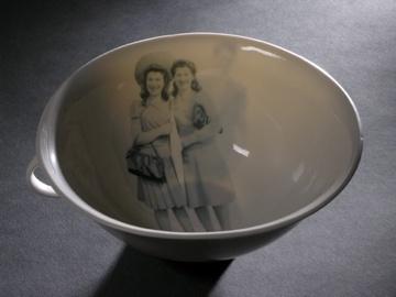 Slip cast porcelain cup