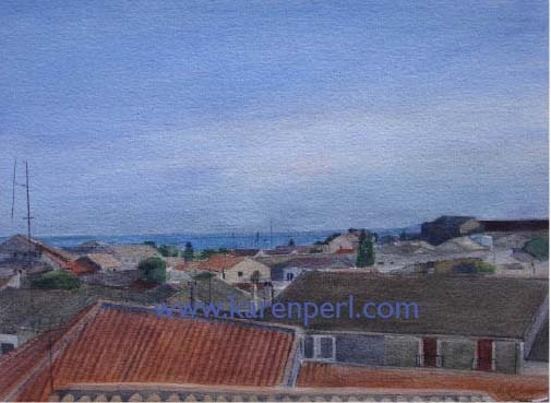 South of France Watercolor