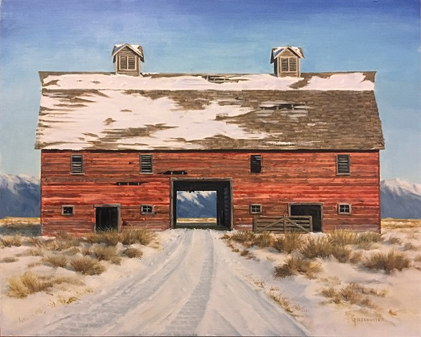 """BIG RED"" - The Porter Ranch barn, built in 1908, is a landmark in the Flathhead Valley of northwestern Montana."