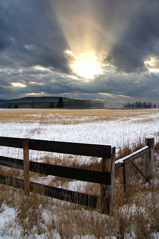A subdued November sunset in the Flathead Valley of northwestern Montana