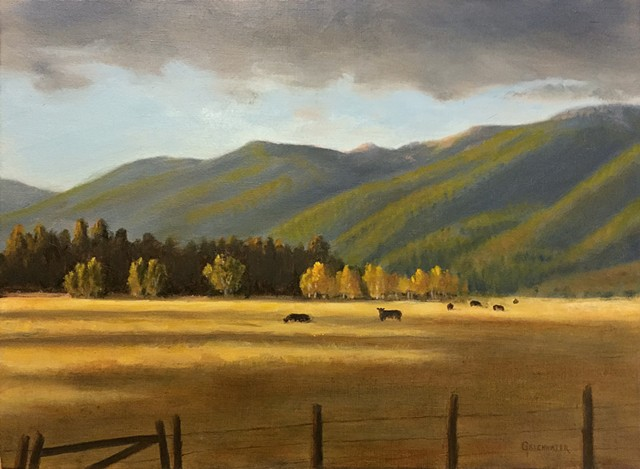 """GOLDEN HOUR"" - An Autumn evening below the Swan Mountains near Bigfork, Montana."