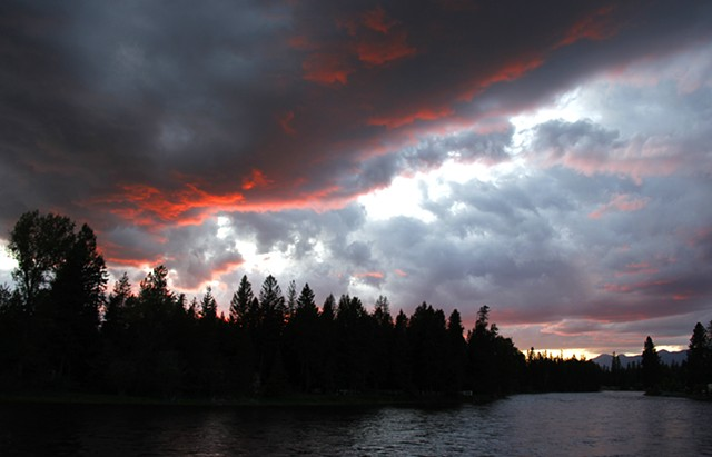 A late Spring sunset over the Swan River in northwest Montana.