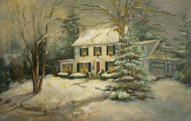 commissioned oil painting house portrait, Cincinnati