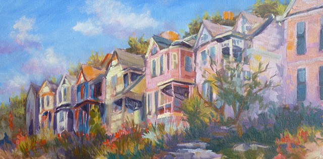 Painted Ladies in Columbia-Tusculum, Cincinnati, Ohio