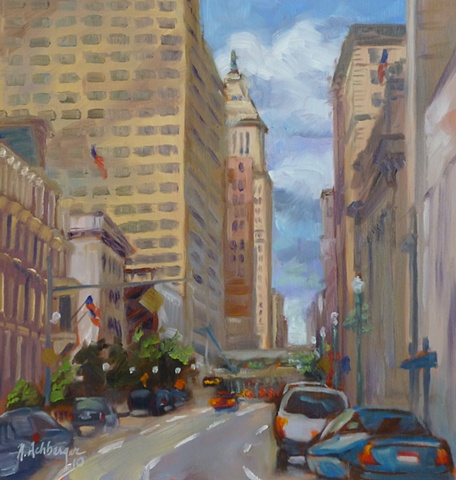 plein air painting, 4th Street Cincinnati