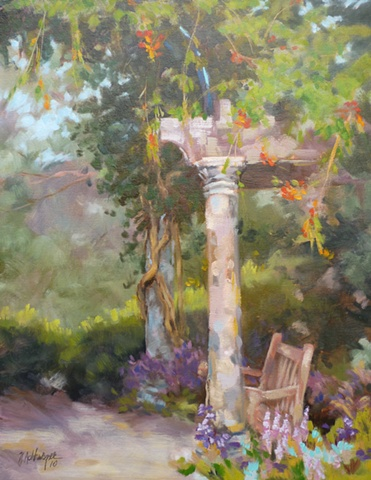 plein air painting of gazebo in Ault Park, Cincinnati