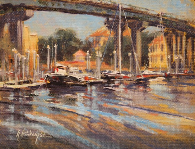 Harbor boats near Brooks Bridge, Ft. Walton Beach, FL