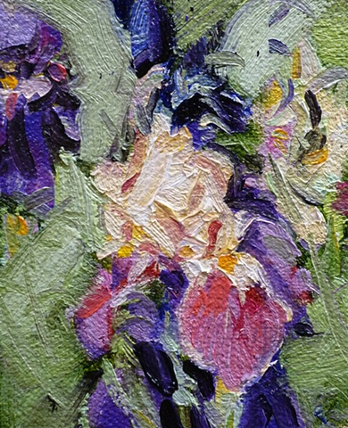 Miniature painting of yellow Iris