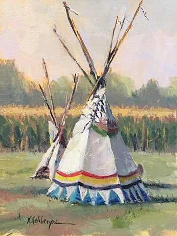 Teepee and corn