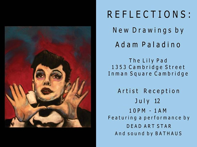 The was the poster for a solo exhibition of new drawings. My portrait of Judy Garland in A Star Is Born made the cut as the publicity image. My dear friend, Ashley Capachione, did the beautiful graphic design.