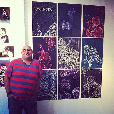 My woodcut series, Mollusks, consist of 10 limited edition