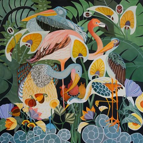 Fancy Flamingos & Friends