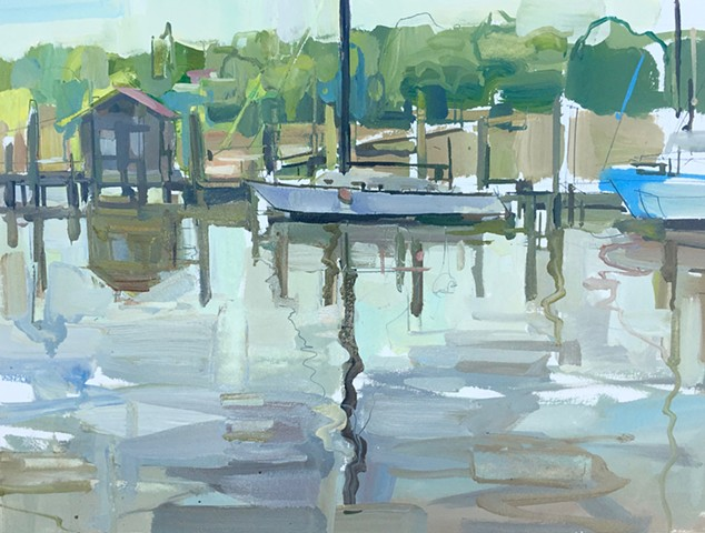 Shem Creek reflection