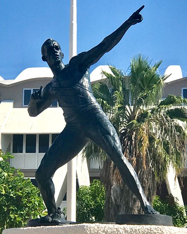 Tribute to Usain Bolt in Kingston, Jamaica