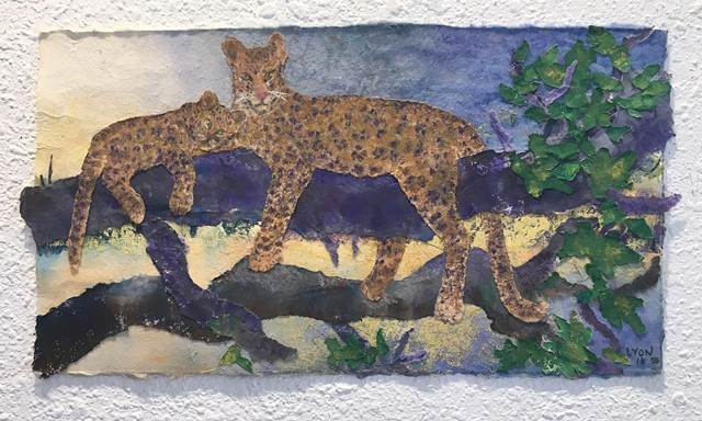 """Leopard Mother and Cub"""