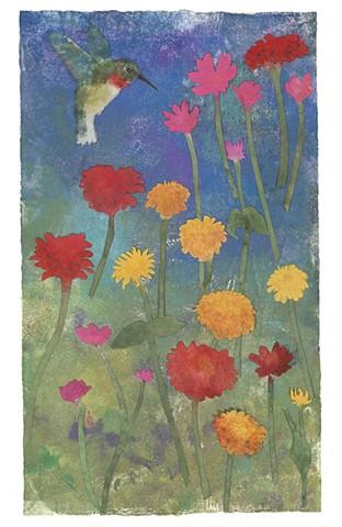"""""""Hummingbird in the Garden"""""""