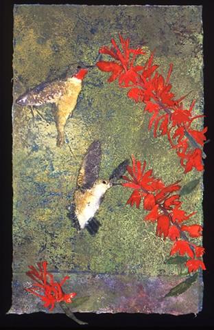 """Cardinal Flowers and Humminbirds"""