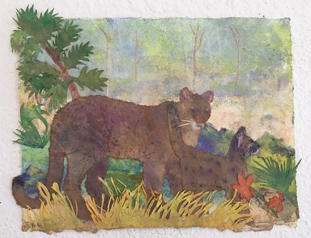 """""""Florida Panther Mother and Cub"""""""