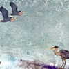 """Herons, Stormy Day"""