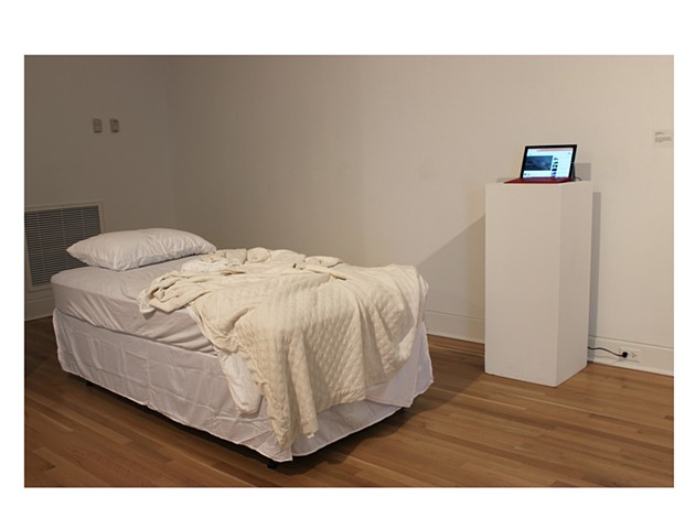 installation view of sleep with me performed in the purdue galleries
