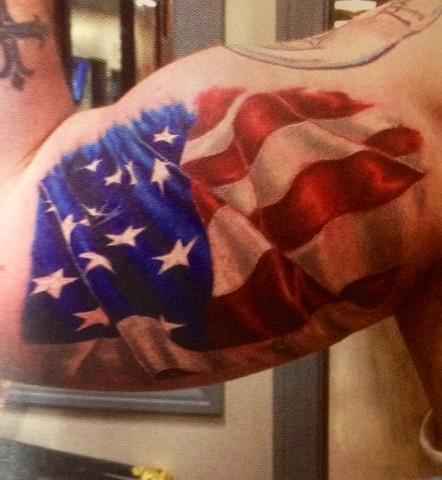 flag on arm