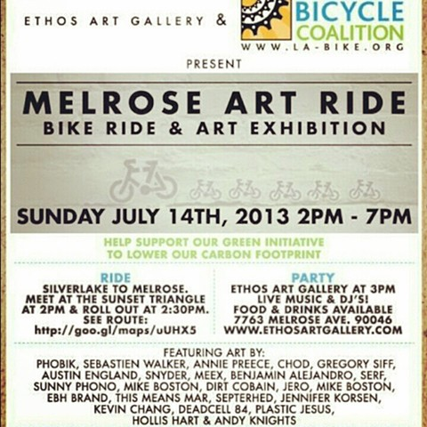 Melrose Art Ride 2013 Ethos Gallery Los Angeles
