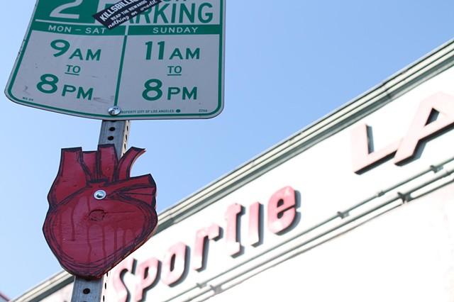 Sportie LA heart install