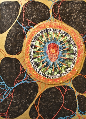 The Great Interior is All-Encompassing, Homage to Alex Grey
