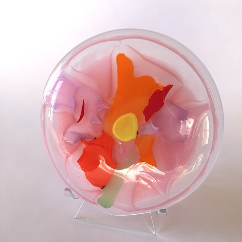 glass art, glass flower art