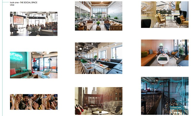 Health HUB: Style Survey Mood Board look one: SOCIAL SPACE