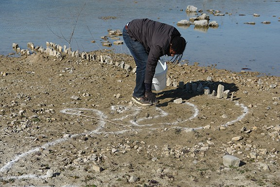 Drawing in the Quarry-