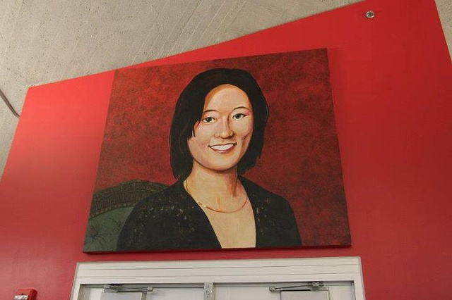 Eleanor Kong portrait installed