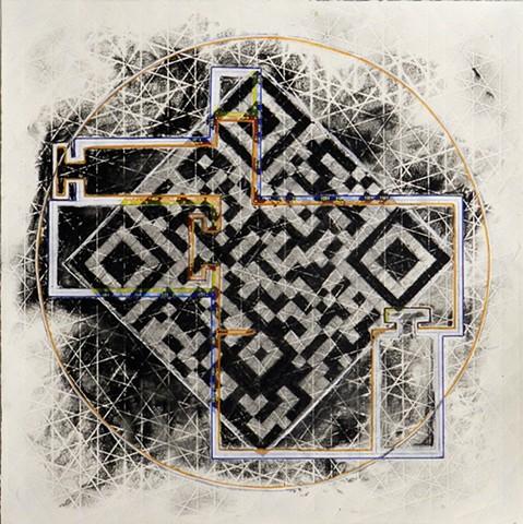 QR Code Mandala drawing