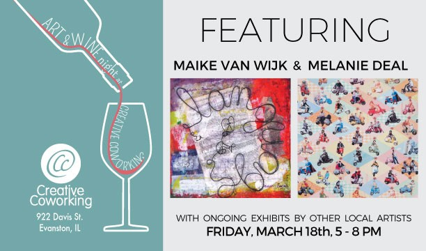 March 2016: Art & Wine Night at Creative Coworking