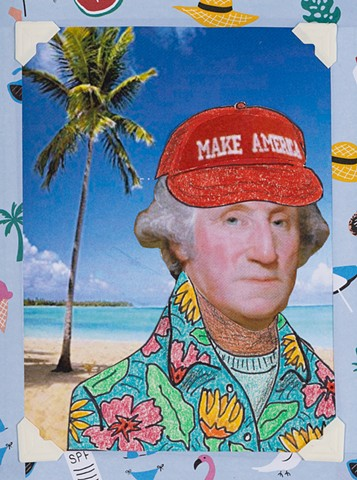 Founding Fathers: Spring Break (detail, George Washington)