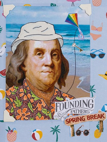 Founding Fathers: Spring Break (detail, Benjamin Franklin)