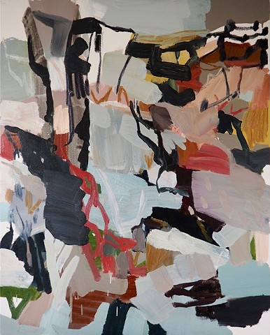 abstract contemporary expressionism oil painting, australian artist, landscape by melissa boughey