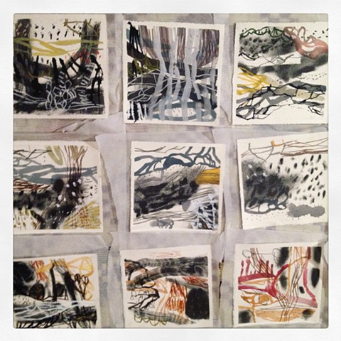 Brave New Drawings 20 x 20 works on paper exhibition