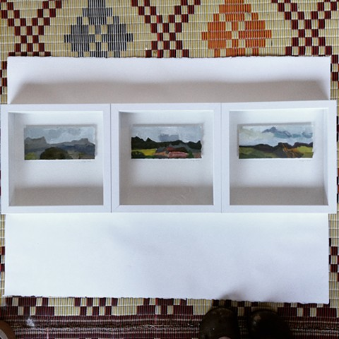 These works off to Tasmania for the Lloyd Rees Prize