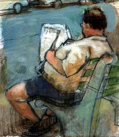 Man Reading a Newpaper