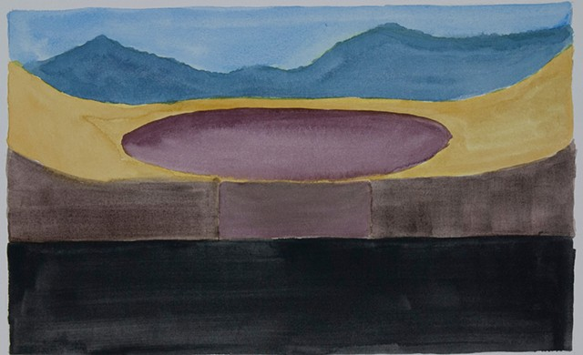 Composition Sketch 3: The Fall at Berkeley Pit