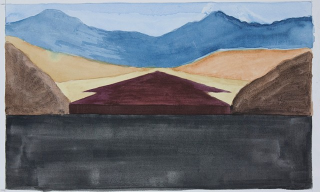 Composition Sketch 2: The Fall at Berkeley Pit