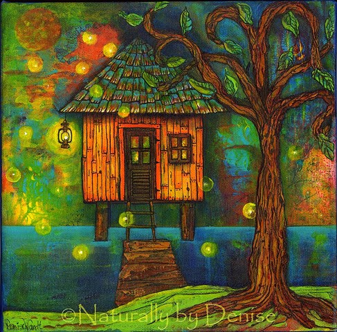 Little house on the Bayou  Original Art Work