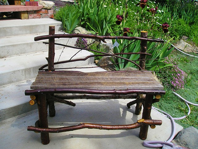 Small Twig Garden Bench